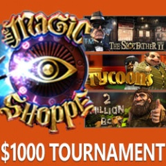 $1000 Slots Raffle this Weekend Features Cinematic Betsoft Slots including Magic Shoppe