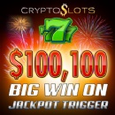 Cryptoslots' $1,000,000 Jackpot Trigger Pays Biggest Win Ever – Crypto-Casino Player Wins over $100K in 1 Spin