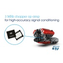 3MHz Chopper Op Amps from STMicroelectronics Feature Rail-to-Rail Input and Output in Tiny Footprint