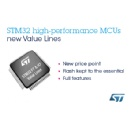 New High- and Very-High-Performance STM32 Value Lines from 