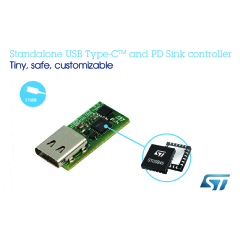 Standalone USB Type-C Power Delivery Controller from STMicroelectronics Enables Fast and Easy Migration to Type-C
