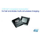 Advanced Qi®-Compliant Transmitter from STMicroelectronics Ensures Fast and Stable 15W Multi-Coil Wireless Charging for Mobile Devices