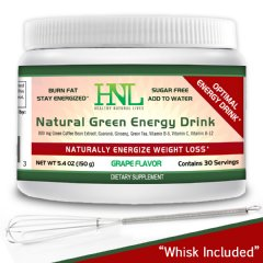 Natural Energy Drink Mix is Sugar Free and Optimizes Your Weight loss Efforts. Delicious Grape Flaver. 30 day supply.