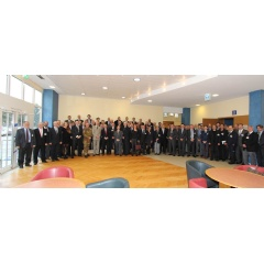 Attendees of this year�s NATO Support Agency Conference pose for a group photo