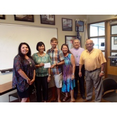 Tishmall Turner, Rincon Band of Luiseno Mission Indians Grant Committee Chair; Vatei Campbell, Elizabeth Hospice Fund Development Manager;  David Verdugo, Mavany Calac, John Lara, Delisle Calac from the Rincon Band of Luiseno Mission Indians