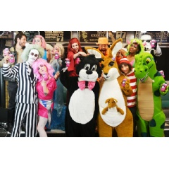 Open until midnight every night through Halloween, your party starts at Boston Costume