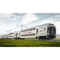 Bombardier Multilevel III passenger rail cars for New Jersey (Rendering)  -Credit: Bombardier-