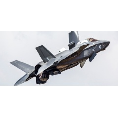 F-35 multi role combat jet at RAF Marham.  -Credit: Ministry of Defence, Crown Copyright-