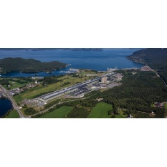 Aerial photo of Hydro Husnes.  -CREDIT: Hydro-