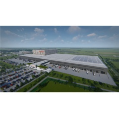 Render impression of Barry Callebaut's new Global Distribution Center