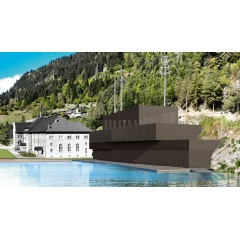 A rendering of the new Ritom pumped storage power plant in Switzerland. (Source: SBB)