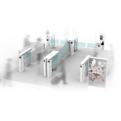 Conceptual image of an electronic customs procedure gate at a customs inspection area - Exit gate