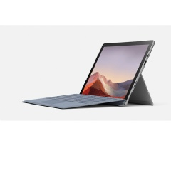 "Surface Pro 7 with 10th Gen Intel Core processors, code-named ""Ice Lake."" Surface Pro 7 was redesigned from the inside out, offering great performance and Intel Iris Plus graphics with the versatility of a 2 in 1 form factor. (Credit: Microsoft)"