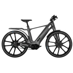 Stajvelo's Lifestyle Design Bike is an innovative, new generation of e-bike that combines mobility, comfort, and design and is the first made of Solvay's advanced injected composites Xencor™ LFT. Photo: Stajvelo