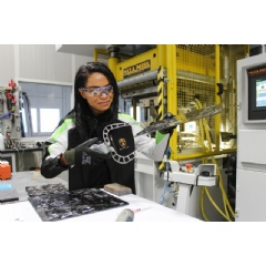 MIT and Lamborghini recently filed a joint patent for a material that will serve as the technological base for a new generation of supercapacitors. Here, Patricia Das '17... Photo courtesy of Automobili Lamborghini (below full caption)