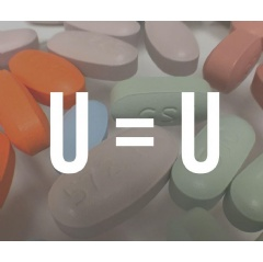 "A variety of antiretroviral drugs used to treat HIV beneath the slogan ""U=U."" NIAID"