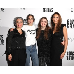 Céline Bonnaire Executive Director Kering Foundation, Jessie Ayles Waves director, Stella Heath Keir The Third Sorrow editor, Ginta Gelvan Communications Director Modern Films