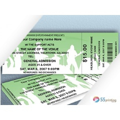 Event Ticket Printing by 55Printing.net