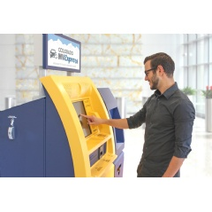 Customers can use a Colorado MV Express kiosk to renew a registration in under two minutes and walk away with their new tab.