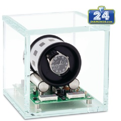 Single Watch Winder Orbita Tourbillon 1 W35001 in Crystal Glass
