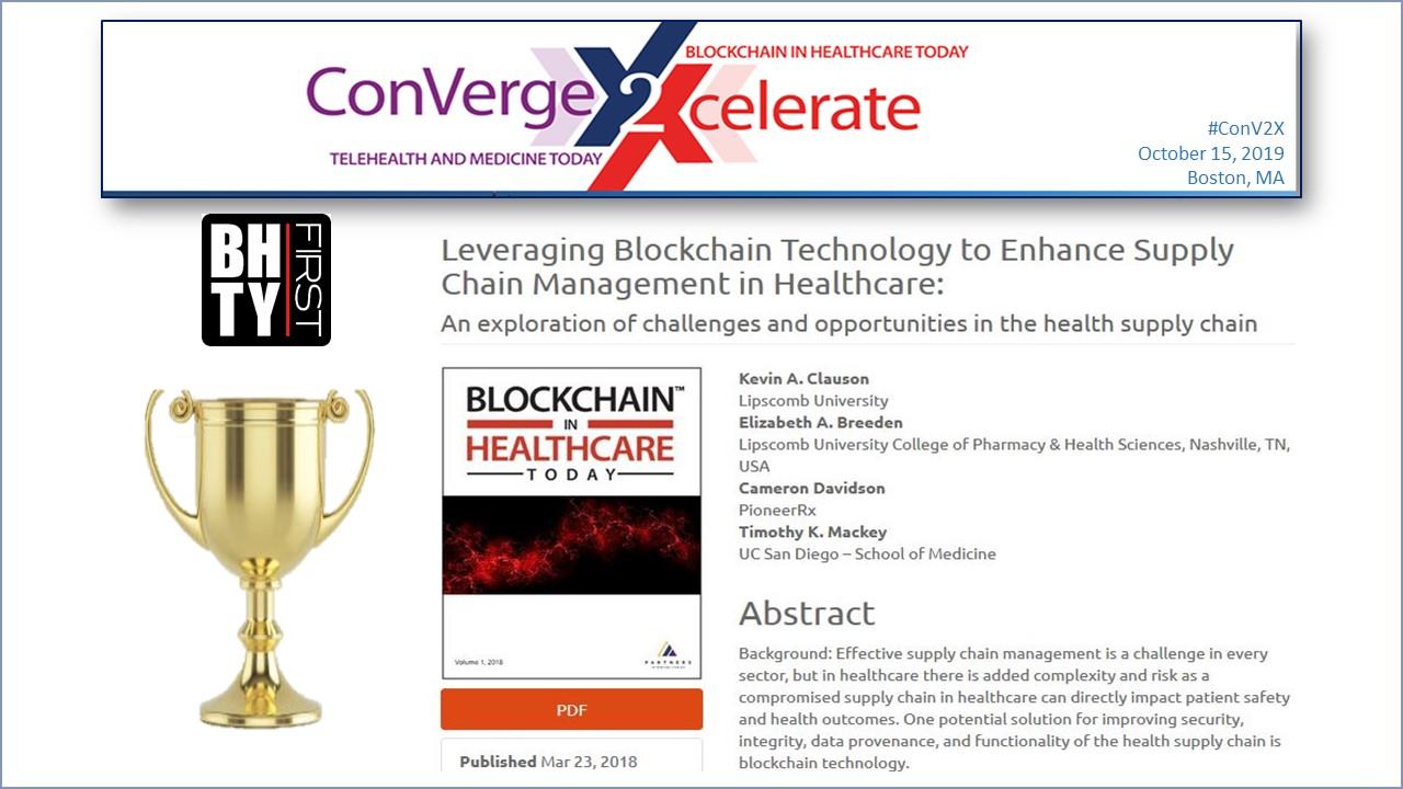 Technology Management Image: Dr. John Halmaka Announces Editor's Choice Award For