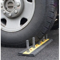 No damage to tires with rubber DrivewaySpikes.