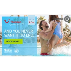 Example of the TUI synced advert