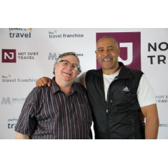 Charles Baldwin with Daley Thompson