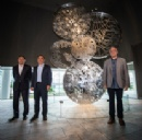 "Nissan unveils ""Wheels of Innovation"" sculpture at global headquarters in Japan"