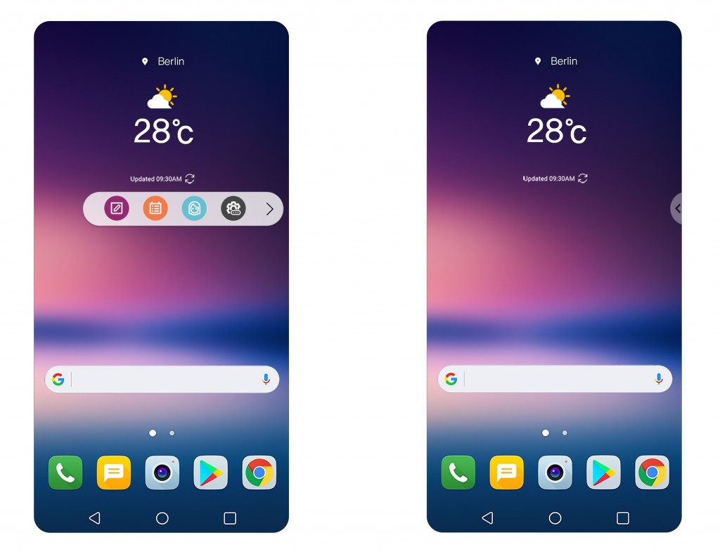 LG teases V30 software features, including Floating Bar for frequently used actions