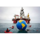 Greenpeace activists confront Norwegian government's Arctic oil drilling site