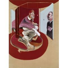 Francis Bacon, Study of Red Pope 1962. 2nd Version 1971, Oil on canvas, 78 x 58⅛in. (198 x 147.5cm.). Estimate on Request