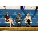 Forest Whitaker and Irina Bokova at Concordia Summit on power of connecting for peace