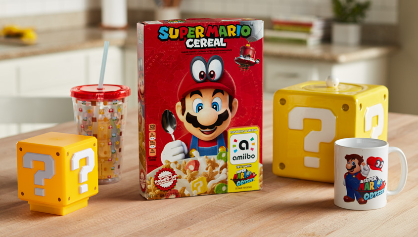 Nintendo Releases New Super Mario Cereal