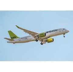 airBaltic CS300 present at the Singapore show