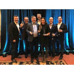 Accenture team members accept the SAP North America Partner Excellence Award 2018