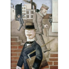 George Grosz Grey Day 1921. Staatliche Museen zu Berlin, Nationalgalerie. Acquired by the Federal State of Berlin © Estate of George Grosz, Princeton, N.J. 2018.