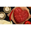 Developing the new food of love…a heart-shaped burger
