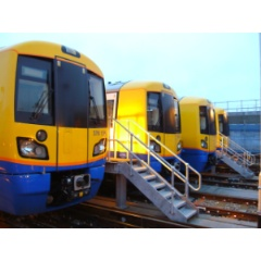 BOMBARDIER ELECTROSTAR trains at New Cross Gate Depot