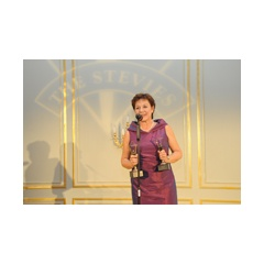 Birgit Hensel, Vice President Shared Value at Deutsche Post DHL Group, at the awards ceremony