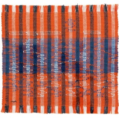 Anni Albers, Intersecting 1962, pictorial weaving, cotton and rayon, 400 x 419 mm, Josef Albers Museum Quadrat Bottrop © 2018 The Josef and Anni Albers Foundation/Artists Rights Society (ARS), New York/DACS, London
