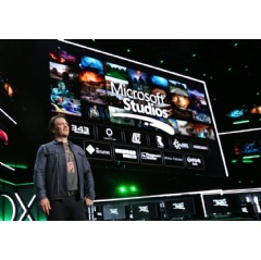Phil Spencer, Head of Gaming at Microsoft, onstage at Xbox E3 2018 Briefing where Microsoft added five more creative teams to the Microsoft Studios family on Sunday, June 10, 2018 in Los Angeles.
