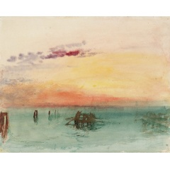J. M. W. Turner, Venice: Looking Across the Lagoon at Sunset 1840, Watercolour on paper, 244 x 304mm, Tate