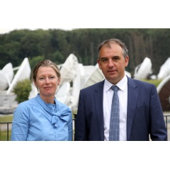 Corinne Mailles, Deputy General Manager of Telespazio France & Patrick Biewer, CEO of GovSat