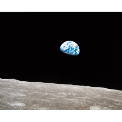 """Look at that picture over there! Here's the Earth coming up. Wow, is that pretty!"" –William Anders, Apollo 8, December 24, 1968