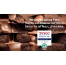 Tesco moves to Rainforest Alliance Certified™ cocoa for own brand chocolate