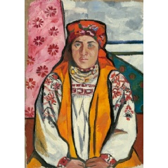Natalia Goncharova (1881- 1962) Peasant Woman from Tula Province 1910. State Tretyakov Gallery, Moscow. Bequeathed by A.K. Larionova-Tomilina 1989 © ADAGP, Paris and DACS, London 2019