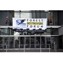 Greenpeace peaceful protest disrupts CEOs linked with destroying millions of forest hectares