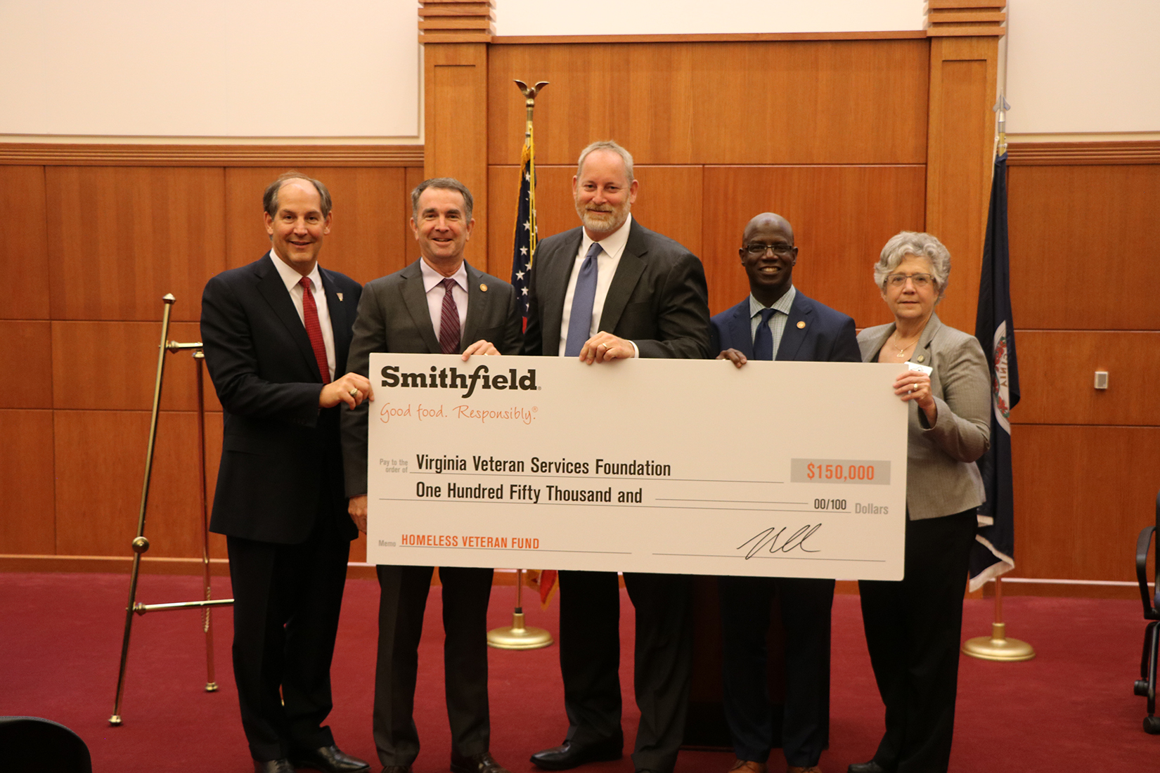 Governor Northam Announces Major Donation from Smithfield