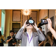 5G+VR application showcases at the event